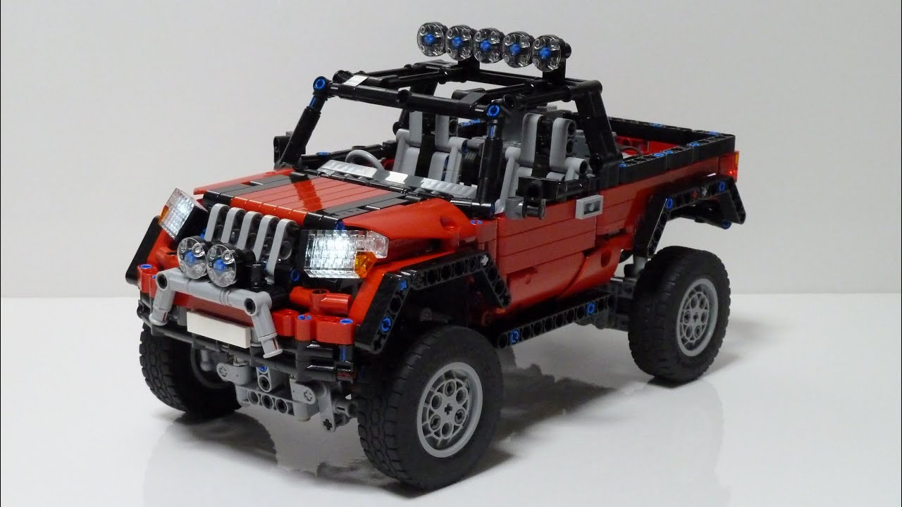 lego technic awd pickup truck youtube. Black Bedroom Furniture Sets. Home Design Ideas