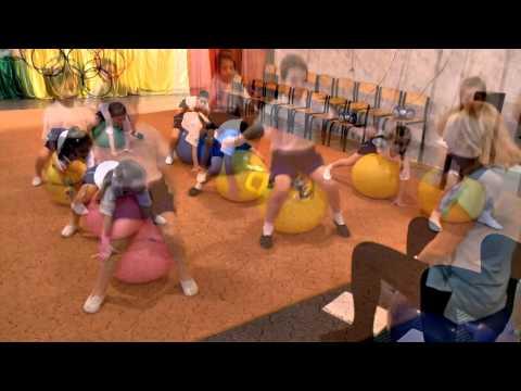 физкультура в детском саду с использованием фитбол мячей