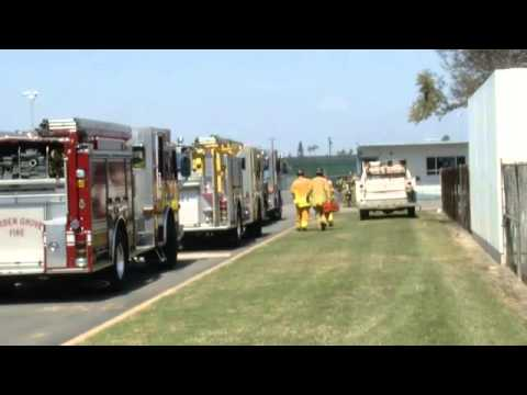 Unknown hazmat forces evacuations at Garden Grove school - 2013-03-27