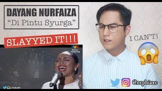 Cover images Dayang Nurfaizah - Di Pintu Syurga #AJL29 | REACTION