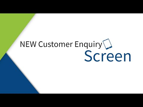 NEW Customer Enquiry Revamp
