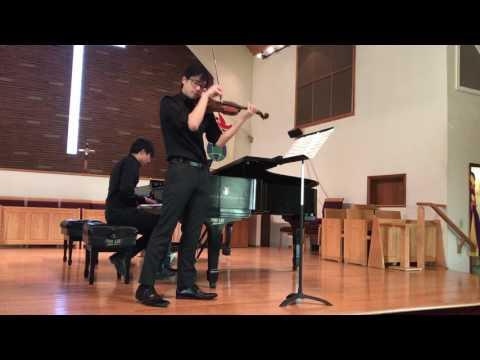 Zigeunerweisen by Pablo de Sarasate, performed by violinist Will Chen & pianist Edward Zhou