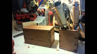 Dovetailed Wooden Boxes Made With Hand Tools