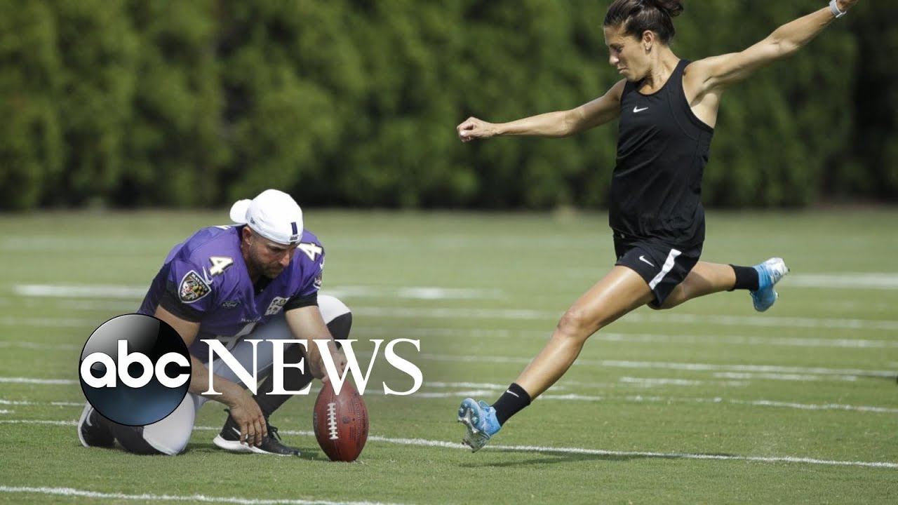 Carli Lloyd says of kicking in the NFL: 'I definitely could do it'