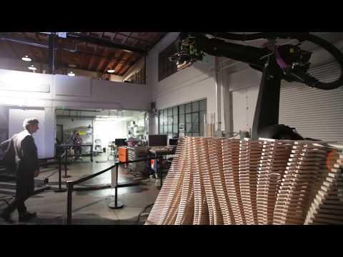 Reprogrammed Assembly Line Robots Make Fine Art in San Francisco   Singularity Hub