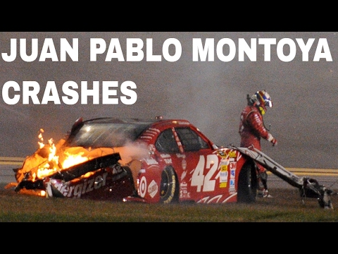 Juan Pablo Montoya Crash Comp