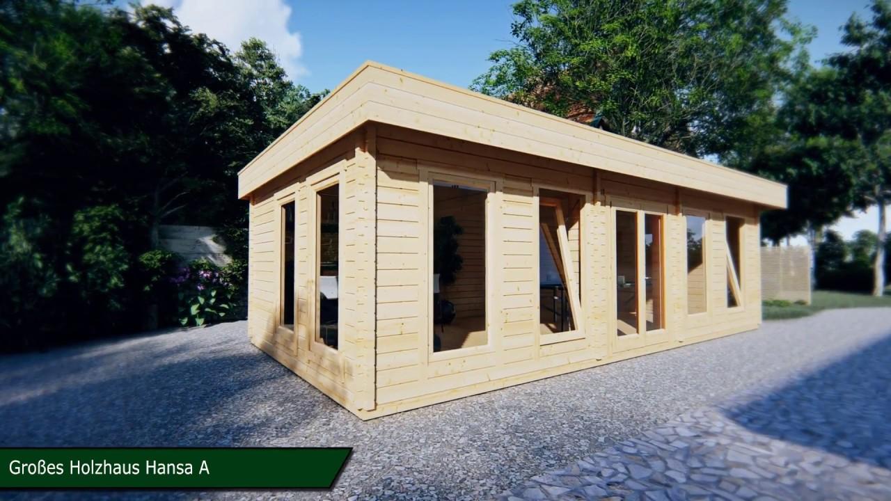 gartenhaus hansa a 30m2 - youtube