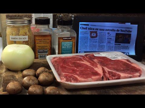 Delicioso almuerzo para enamorados 🥔 🍖 🍄 - Carne con salsa de hongos recetas cocinemosjuntos