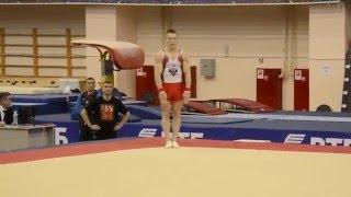 денис Аблязин стал вторым в вольных упражнениях на ЧР в Пензе. 2 апреля 2016 г.