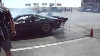 Jet Car Nationals 1st Qualifying Pass Burnout