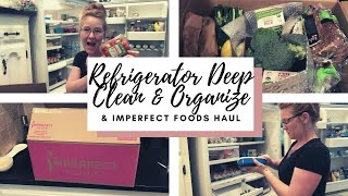 REFRIGERATOR DEEP CLEAN 2020 - Organization & Imperfect Foods Haul
