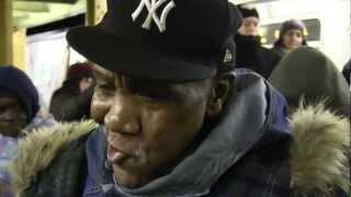 """GEECHEE DAN """"Stop Doggin Me Around"""" Amazing NYC Subway Artist 1/1/13"""