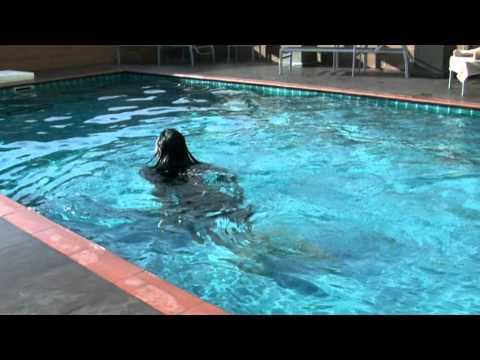 Shasha In The Pool At The Dawin Hotel Bangkok