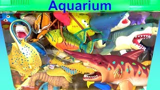 Sea Animal Toys For Kids - Learn Animal Names - Learn Colors - Ocean Creatures in my Aquarium