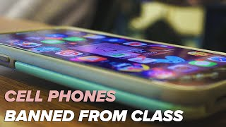 Teacher explains ban on cell phones in class