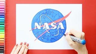 How To Draw Nasa Logo Or Emblem