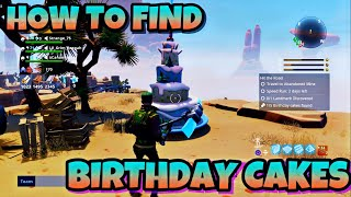 HOW TO FIND BIRTHDAY CAKES IN FORTNITE SAVE THE WORLD (PIECE IF CAKE)
