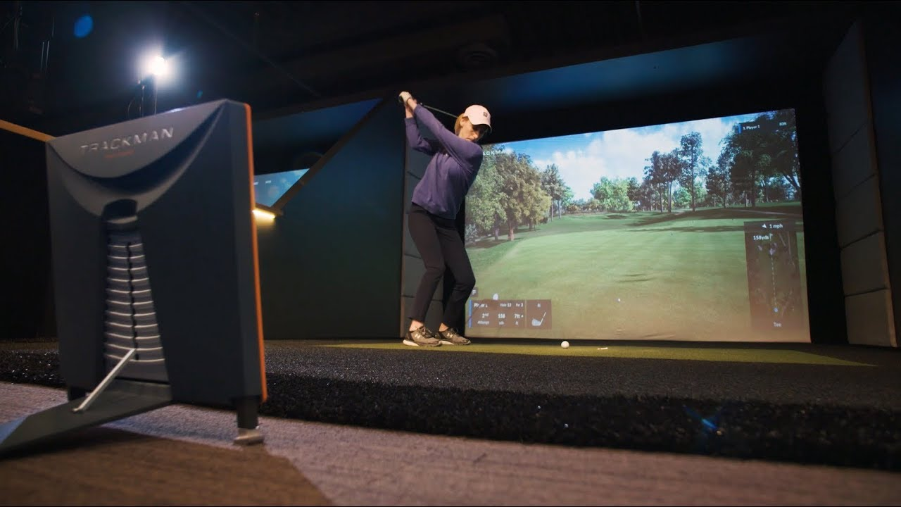 2018 Golf R >> TrackMan Indoor Golf Simulator - YouTube