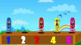 颜色学习与五颜六色的爪子巡逻冰淇淋手指家庭颜色学习为孩子null