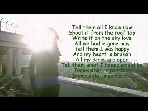 Alina Eremia- Impossible Lyrics