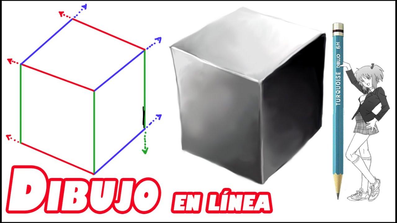 Como dibujar un cubo explicado youtube for Dibujar un mueble en 3d