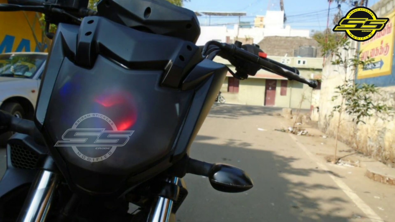 Yamaha fz modification bike sticker wrapping alters sticker modified fz sriramstickers · sriram stickers erode