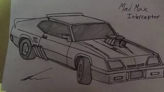 Mad Max Interceptor | Time Lapse Drawing