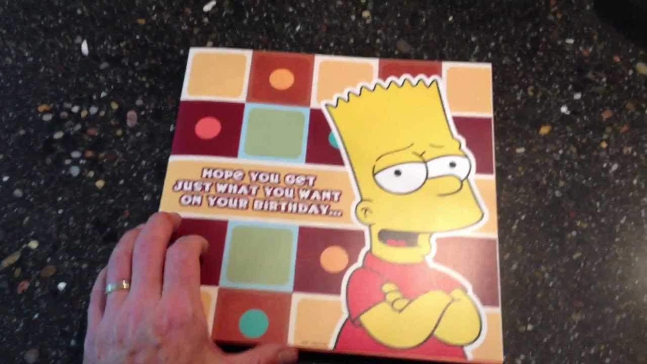 the simpsons talking birthday card, Birthday card