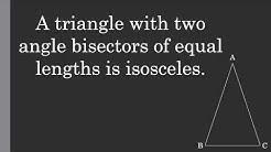 The Steiner-Lehmus Theorem