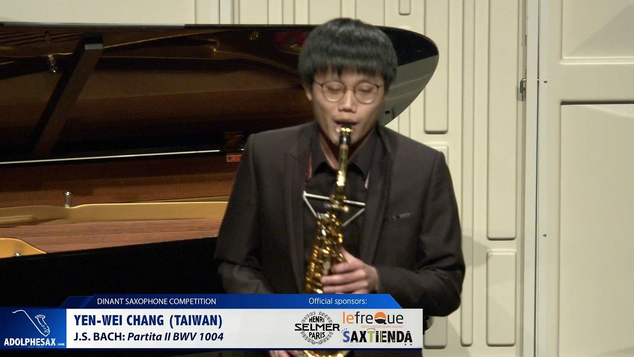 Yen Wei Chang (Taiwan) - Partita II BWV 1004 by J S  Bach (Dinant 2019)