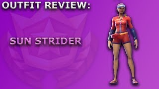 Sun Strider Outfit Review + Skin Showcase! ~ Season 5 Battle Pass Item ~ Fortnite Battle Royale
