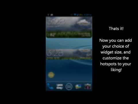 How To Use] GS3 ish Weather Widget (a UCCW Skin) - YouTube