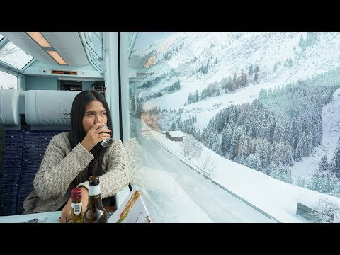 Glacier Express In Winter Snow: From Zermatt To St Moritz (Interrail/Eurail)