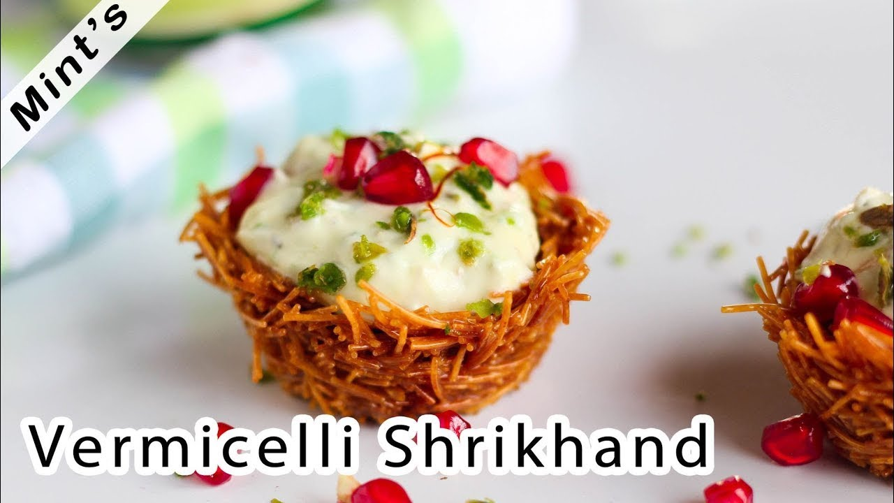 Sevai shrikhand recipe indian dessert recipes vermicelli sevai shrikhand recipe indian dessert recipes vermicelli shrikhand youtube forumfinder Choice Image