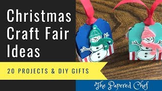 20 Christmas Craft Fair Ideas - Holiday DIY Gifts - 3D Crafts - Stocking Stuffers & More