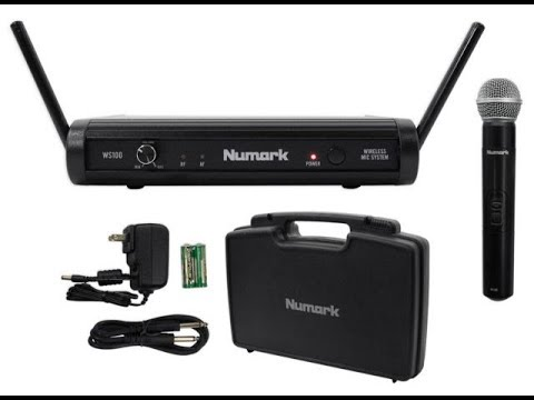 Numark WS100 Wireless Microphone Unboxing And Review