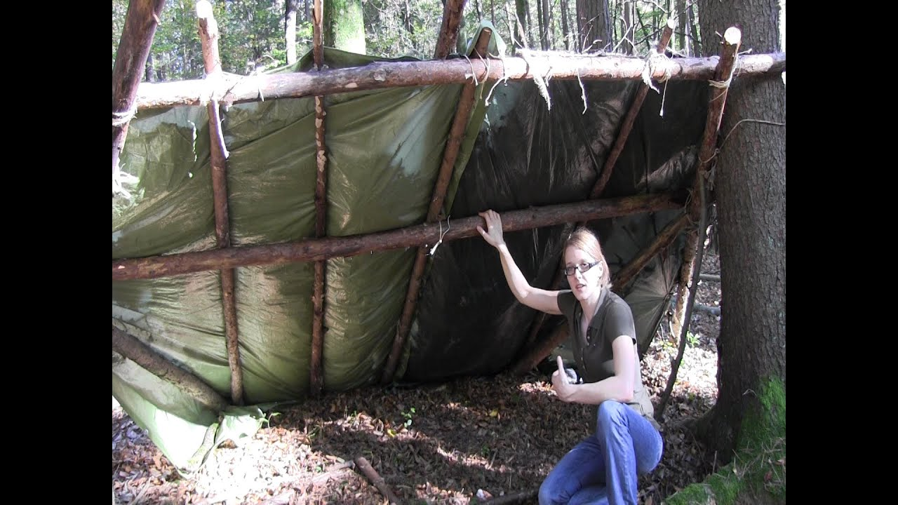 Building A Bug Out Shelter : Building a bug out camp part youtube