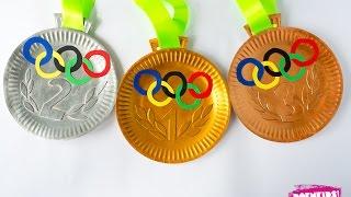 Olympische medailles knutselen