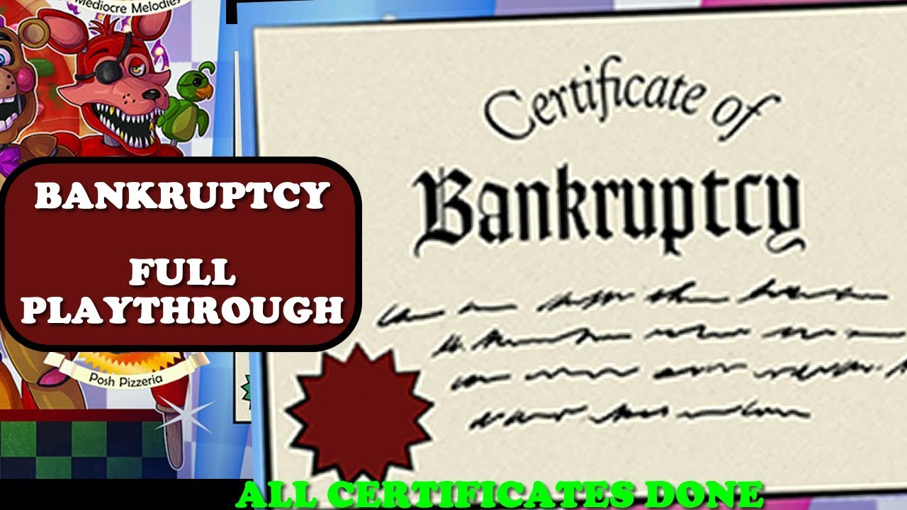 Bankruptcy Certificate After Getting Rich Full Playthrough