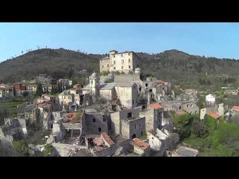 Castello di Balestrino - Riprese aeree -  Drone TBS Discovery PRO Gimbal Gopro - 30-03-2014