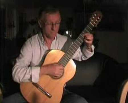 classical guitar of bach