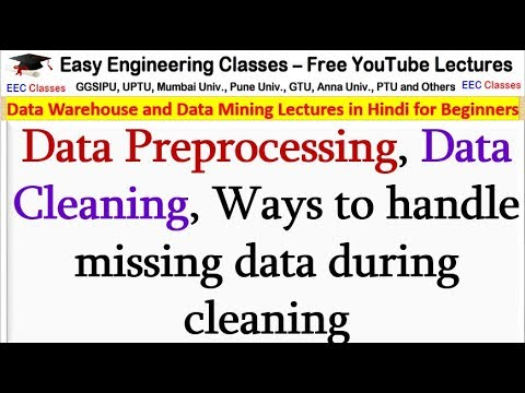 Data Preprocessing, Data Cleaning, Ways To Handle Missing Data During Cleaning