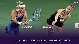 Dominika Cibulkova vs. Karolina Pliskova | 2019 Dubai Second Round | WTA Highlights