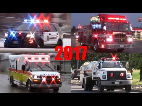 Emergency Vehicles Responding 2017 - Fire Trucks, Ambulances, Police Cars