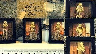DIY EASY HALLOWEEN SKELETON SHADOW BOX DECOR