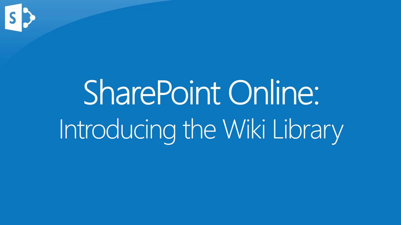 Introducing the Wiki Library