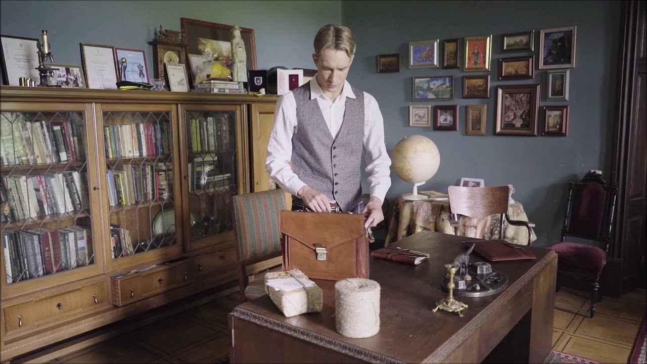 Illusions // Leather Briefcase // Brown video thumbnail