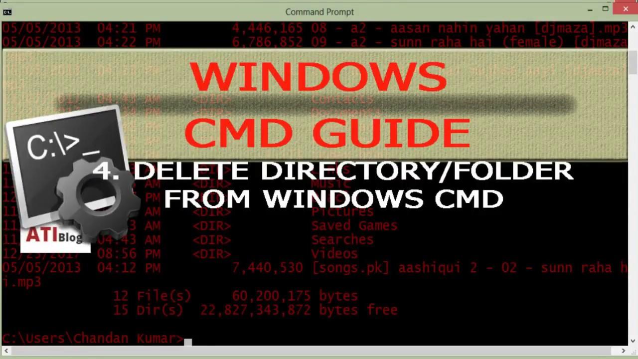 Force delete non empty folders in Windows CMD