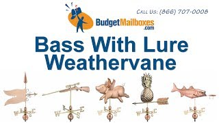 Budgetmailboxes.com | Good Directions 9602p Bass With Lure Weathervane - Polished Copper
