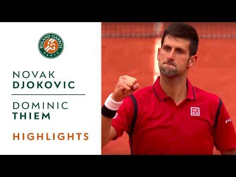 Novak Djokovic v Dominic Thiem Highlights - Men's Semi-Final 2016   Roland-Garros